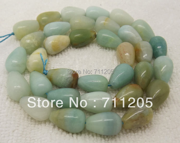 8x12mm Natural Multi-Color Amazonite Waterdrop Loose Beads 15,Min. Order is $10,we provide mixed wholesale for all items !