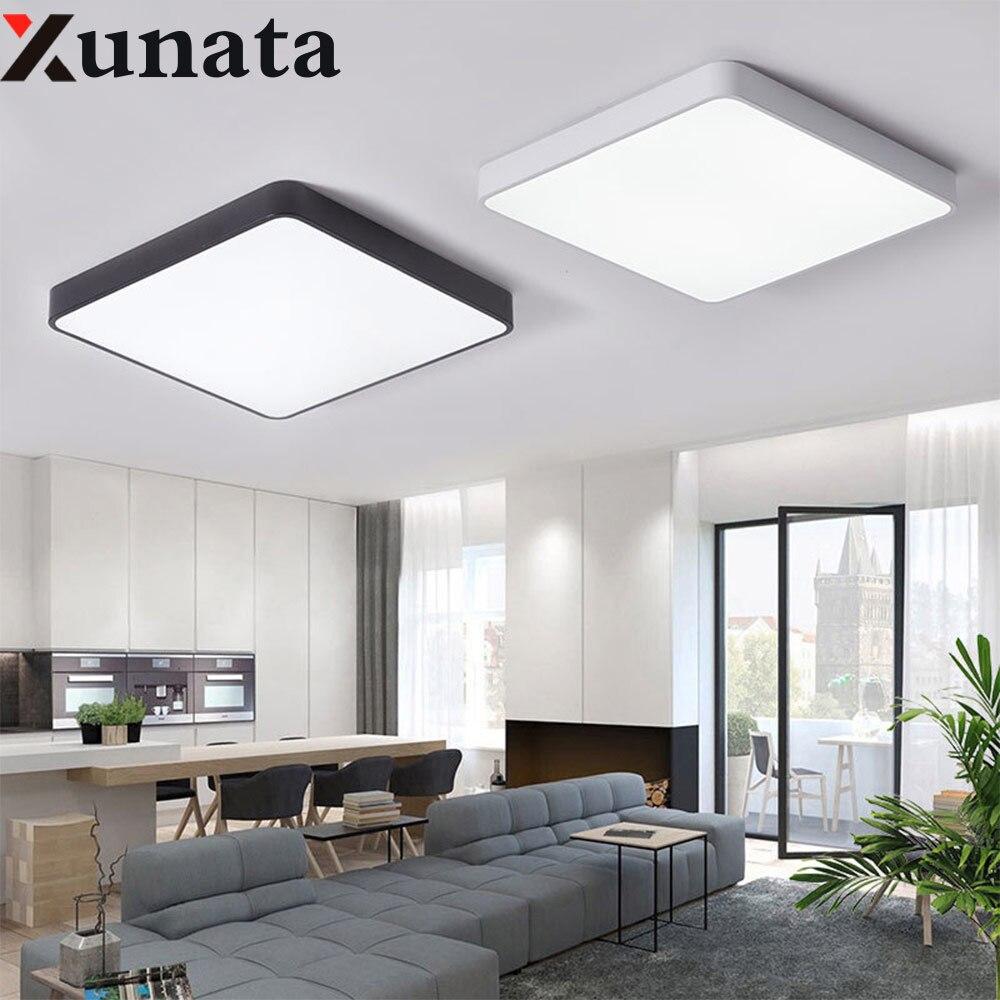 Квадратный/круглый светодиодный потолочный светильник, современный светильник для гостиной, светильник для спальни, кухни, поверхностное