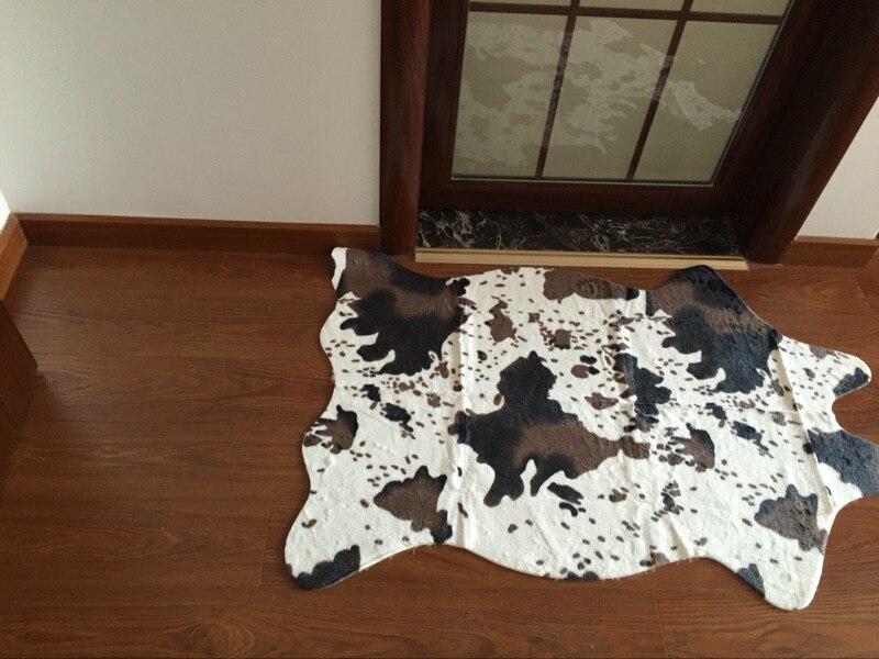 Cow Print Rug Zebra Faux Fauskin