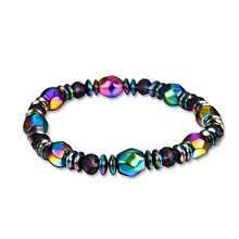Colorful Magnet Bracelet Hand-Woven Elastic Rope Bangles Jewellery Fashion Attractive  Bangle For Women M16