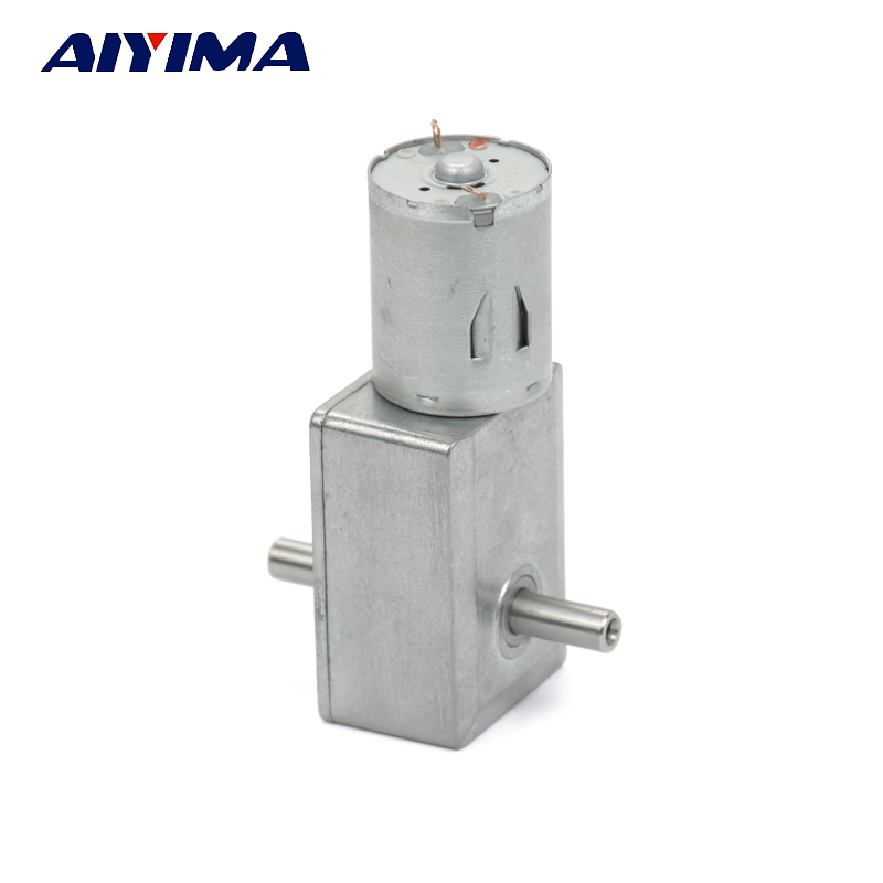 AIYIMA JGY370 DC12V 10RPM Double Shaft Motor DC Turbine Worm Geared Motors Self-locking For Robot Electric Lock BBQ MoteurAIYIMA JGY370 DC12V 10RPM Double Shaft Motor DC Turbine Worm Geared Motors Self-locking For Robot Electric Lock BBQ Moteur