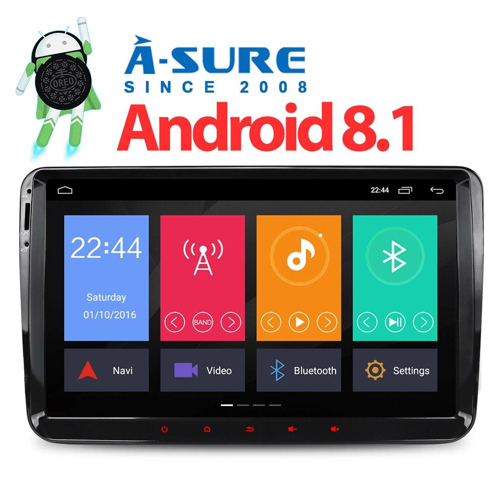 Un-Sûr 9 Android 8.1 autoradio GPS pour Volkswagen VW Tiguan Polo Golf 5 6 Passat Caddy transporteur T5 Touran Sharan Jetta DAB +