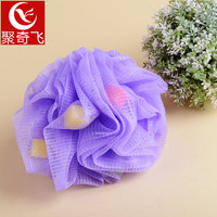 Double Color Soft Bath Ball Flower Brush Tubs Scrub Shower Body Cleaning Mesh Wash Sponge Bathroom Accessories Brush 3DBH50