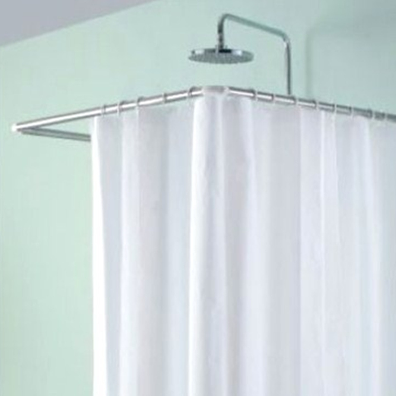 L Shaped Corner Corner U Shaped Shower Curtain Rod Shower Curtain Bathroom Bathroom Accessories