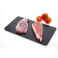 Placa de descongelação rápida mágica placa de descongelação rápida bife carne marisco placa de descongelação rápida ly008|Bandejas de descongelar| |  -