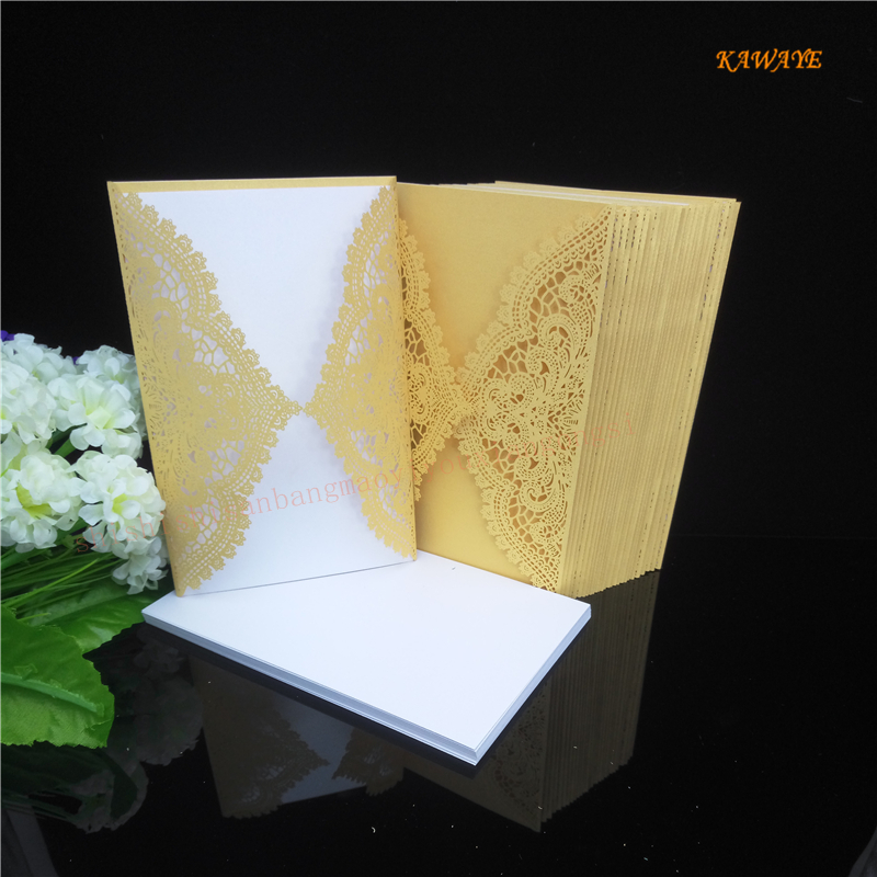 10 pcs Hollow Wedding Invitation Cards Card Paper Kit for Wedding birthday party weeding decoration for weddings 8ZH67