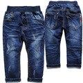 3978 do bebê calças de brim do bebê crianças calças jeans meninos calças calça casual azul criança roupas calças jeans macio novo