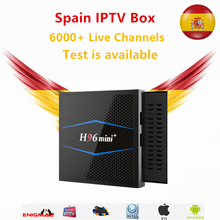 IPTV Box H96mini Android TV 7.1 2GB/16GB With 1 year iptv subscription Spain French Sweden Dutch Live for smart tv box