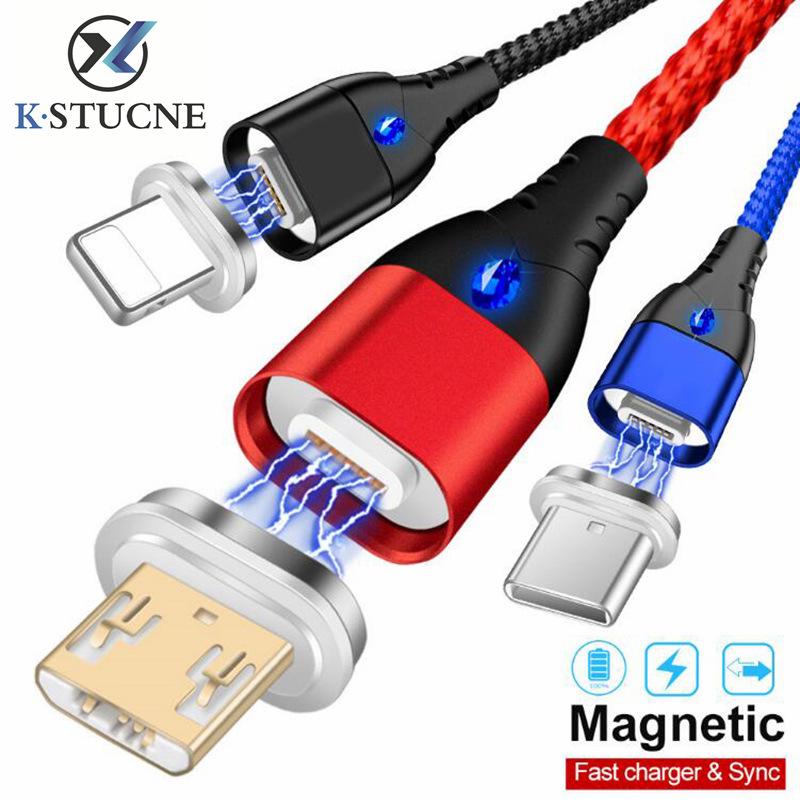 Magnetic-Cable Fast-Charging-Cord Type-C Micro-Usb IPhone Xs For Xr-x-7/6-phone/Magnet/Micro-usb