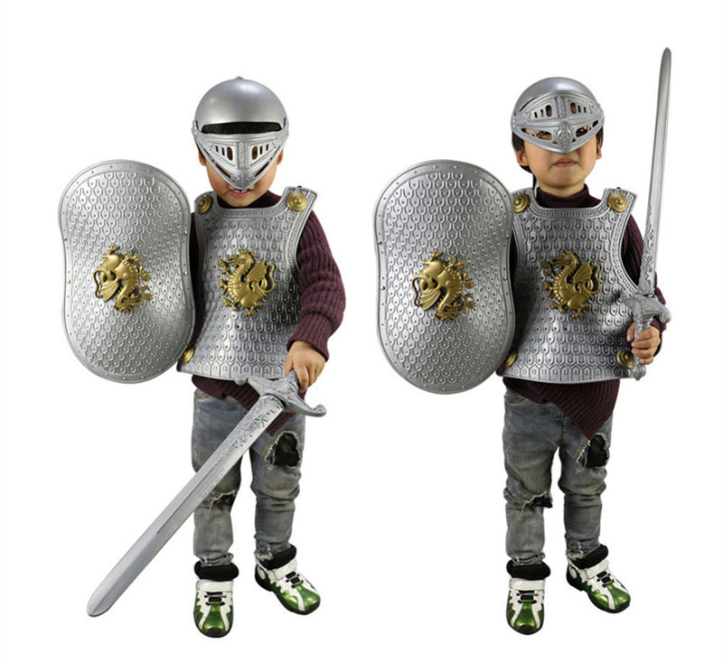 Novelty & Special Use Costumes & Accessories Armour Set Anime Cosplay For Kids Weapon Set Warrior And Sword Knight Vestidos Costumes For Children In Halloween Carnival Party