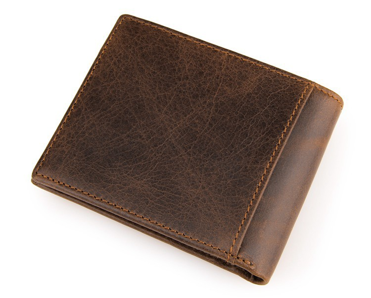 Brand Cowhide Leather Men Wallets Vintage Man Genuine Leather Purse Male Coin Pocket Wallet Removeable Card