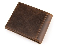 Brand Cowhide Leather Men Wallets Vintage Man Genuine Leather Purse Male Coin Pocket Wallet Removeable Card Holder #VP-J8054