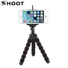 Гибкая Губка Осьминог штатив для телефона iPhone 6 7 samsung S7 Xiaomi Note 5 для Gopro SJCAM Yi 4K камера с мобильным зажимом