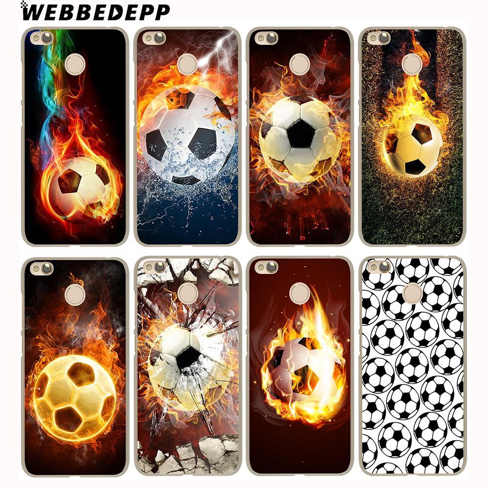 WEBBEDEPP Fire Football Soccer Ball Cover Case for Xiaomi Mi6 5S A1 5X Redmi Notr 4 3 Pro 4A 5A 4X 5 Plus 3 Pro 3S