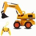 Remoto eléctrico Inalámbrico de Control Remoto Excavadoras Hidráulicas Juguetes RC Truck Toy Bulldozer Excavadora Coche de Juguete Para Niños Regalos