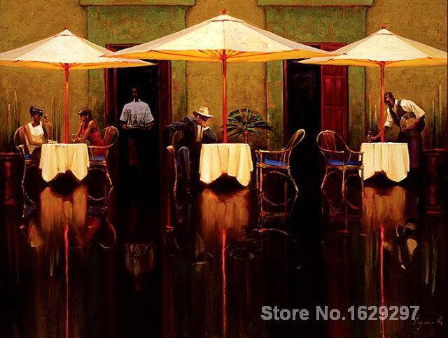 Spanisch Cafe Brent Lynch Malerei Für Schlafzimmer Dekoration  Qualität(China (Mainland))