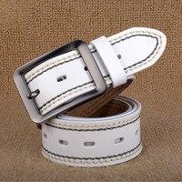 2017 Pin Buckle 100 Cowskin Men Belt Luxury Male Real Leather Wedding Business Belts Black Coffee