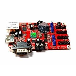 Image 2 - LongGreat TF M6NUR Network & USB Driver  RS232 Ports LED Control Card 768*64 pixels, P10 P16 P20  Message Signboard Big