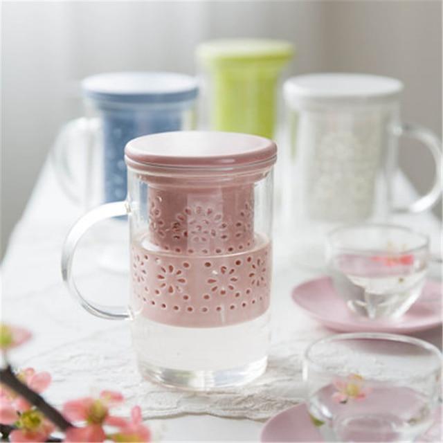 verre transparent tasse de th avec infuseur kung fu lait tasses tasse caf maison copo. Black Bedroom Furniture Sets. Home Design Ideas