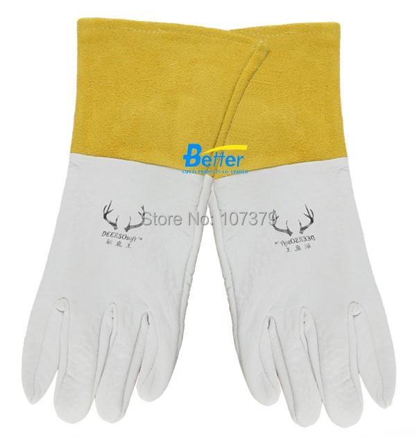 Lederarbeitshandschuh Lederschweißschutzhandschuh Maserung - Schutz und Sicherheit - Foto 2