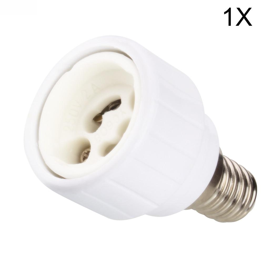 1x E14 to GU10 Lamp Holder Converters Lamp Base Converters LED Halogen CFL Light Bulb Adapter Converter Holder