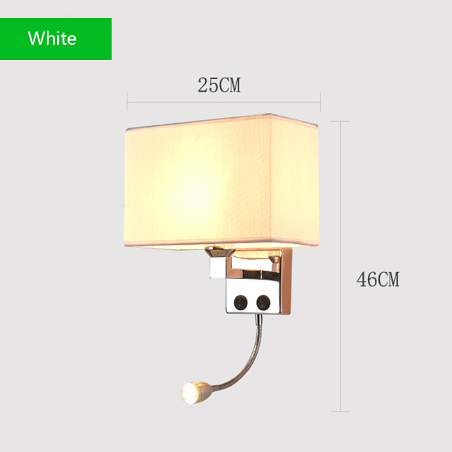 Led Wall Lights Sconce In The Bedroom Interior Sconces With Switch E27 Bulb Usb Mordern Black Indoor Bedside Lamp Headboard