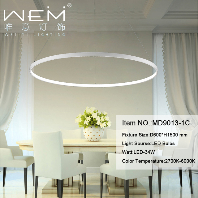 New Arrival Modern Indoor Pendant Circular Light Dining Room Bed Study LED Lights Globe Chandelier