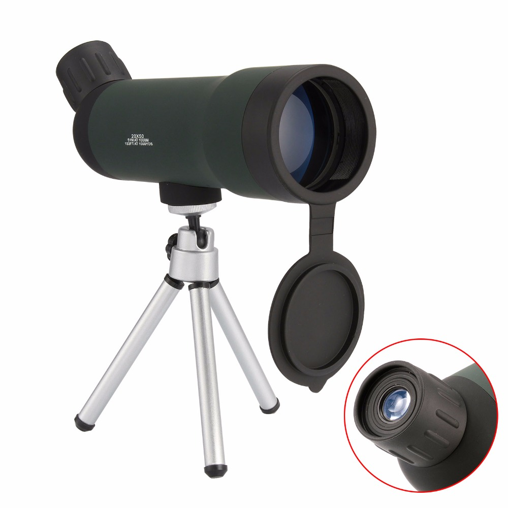 20 X 50 Handheld Outdoor landscape Night vision Monocular Telescope With Tripod High Quality Astronomical Fans Hunting Telescope