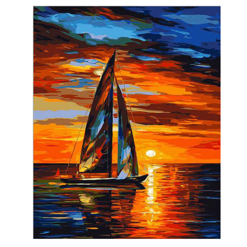 Sailing 40 x 50 cm Painting By Numbers Kit On Canvas N23