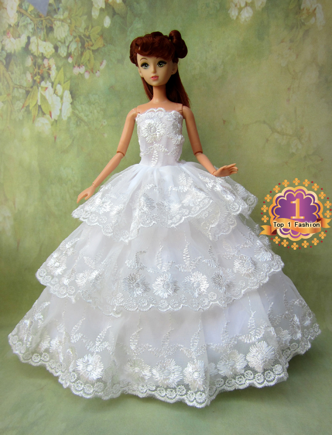 1pcs Model Choose Option Wedding Dress Princess Gown Clothes For Barbie Doll In Dolls Accessories From Toys Hobbies On Aliexpress