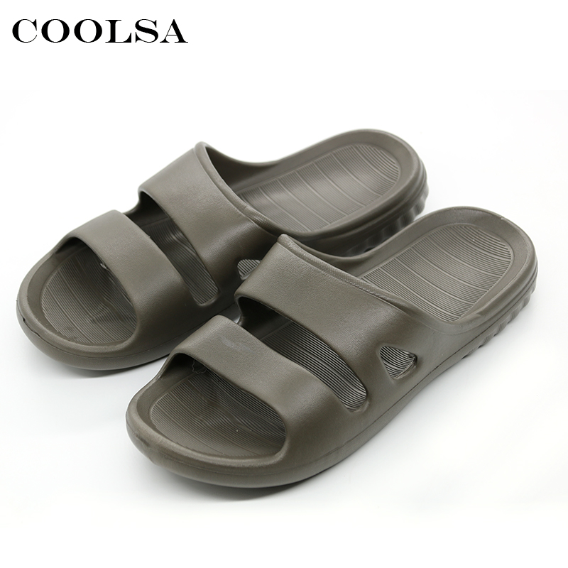 2018 Hot New Summer Men Flip Flops Fashion High Quality Male EVA Flat Slides Bath Slippers Beach Sandals Indoor Outdoor Slippers