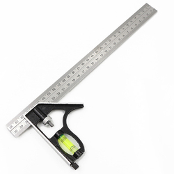 300mm regulowana kombinacja wypróbuj zestaw kwadratowy linijka kątowa z poziomu narzędzie do drewna do pomiaru lub rysunek|Zestawy narzędzi ręcznych|Narzędzia -