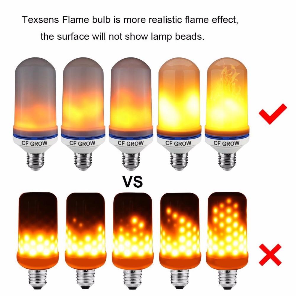 New Design 4 Modes E26/E27/E14/E12 LED Flame Bulb Upside Down Effect Simulated Decorative Vintage Atmosphere Lighting Lamp