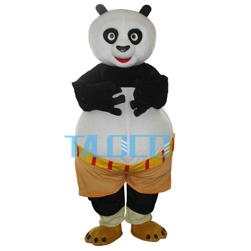 Кунг фу Панда Костюм талисмана для Хэллоуина Карнавальная Фантазия платье для взрослых бесплатная доставка