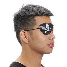10Pcs Pirate Eye Patch Eye Mask Eyeshade Cover Plain for Adult Lazy Eye Amblyopia Skull Eye Patch Costume Halloween Mask Toys