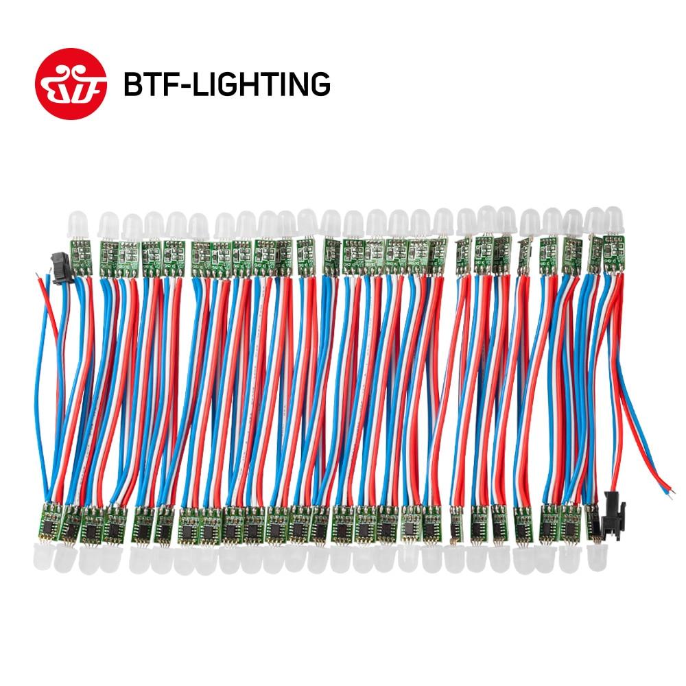 50ks / 100ks WS2811 DC 5V / 12V černý / zelený / RWB vodič; LED moduly Pixely String, adresovatelné, nevodivé IP30
