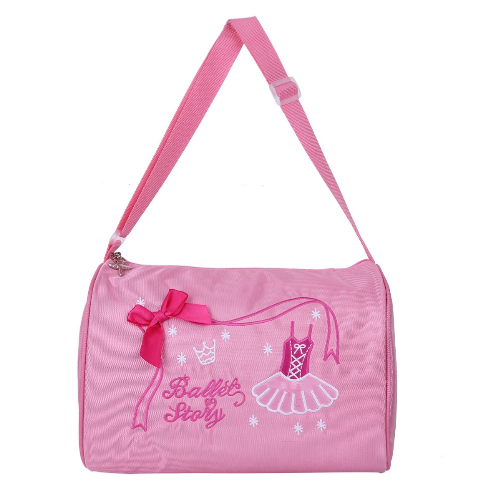 Ballet Bags Children Practicing Dance bag ballerina girls hand Shoulder Bag Pink with Zipper Duffel Fashion Girl's dancing bag