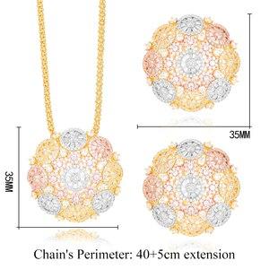 Image 5 - GODKI Speciale Aanbieding Zilveren Bloem 2 STUKS Sieraden Sets Voor Vrouwen Engagement Luxe AAA Cubic Zirkoon Oorbel Ketting Sieraden Set