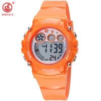 OHSEN Boys Girls Children Electronic Digital Sports Watches Kids Military Watch Waterproof Rubber Strap Wristwatch Student