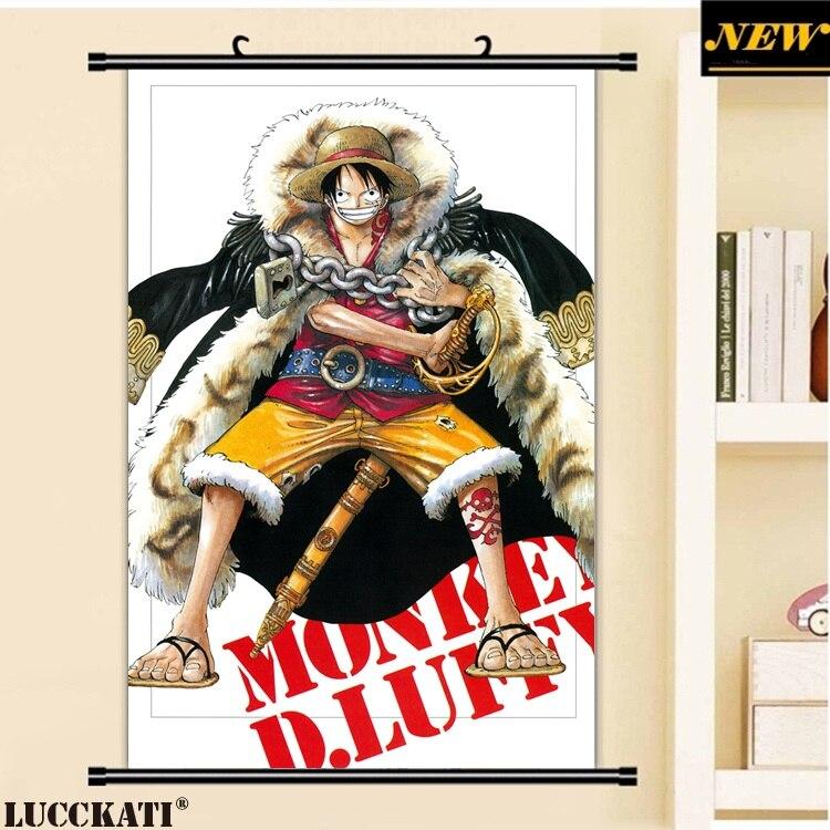 40x60cm One Piece Oda Eiichirou Monkey D Luffy Male Nami