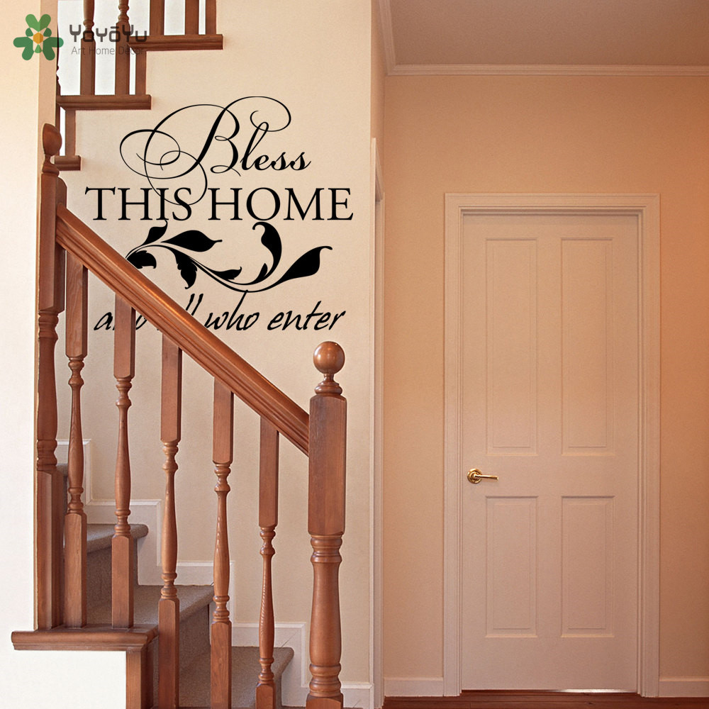 Home Decor Quotes Bless This Home And All Who Enter Vinyl