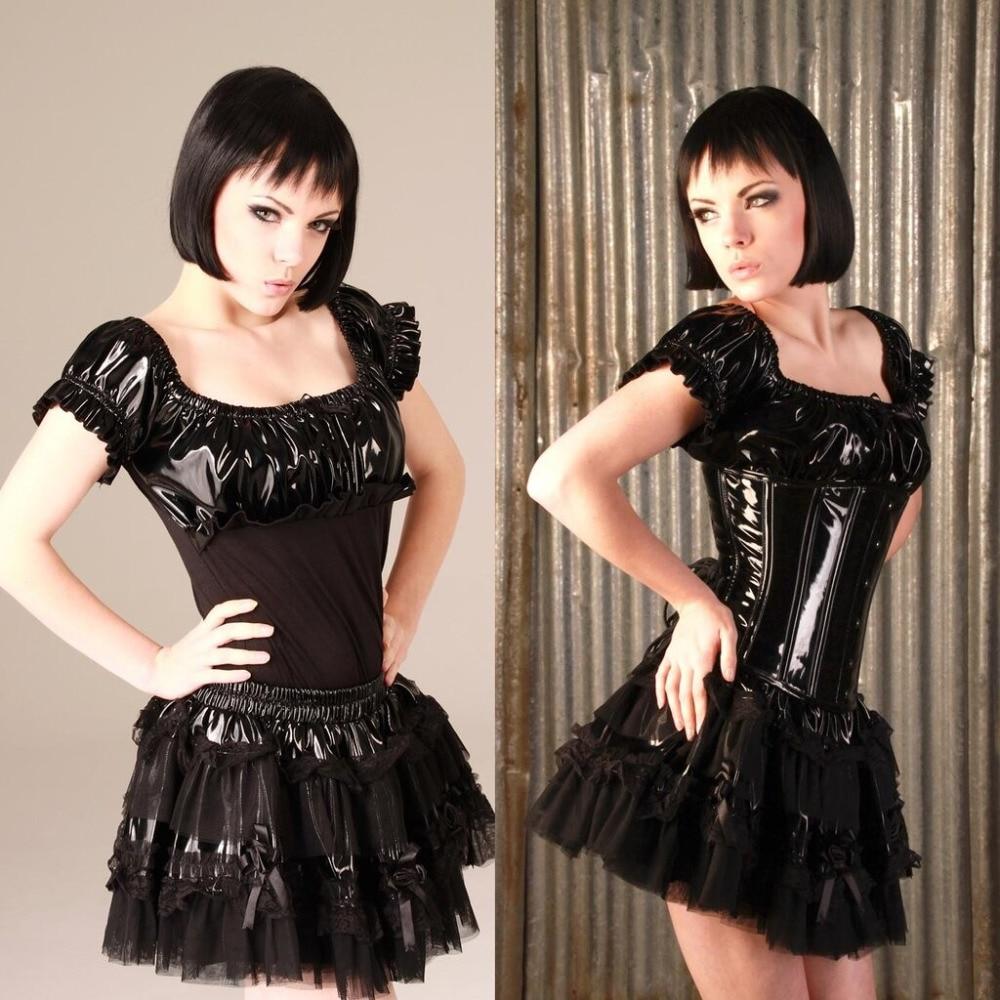 Aliexpress.com : Buy PU Leather Pleated Skirt Plus Size