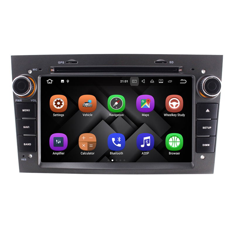 1024x600 Quad Core Android 7.1 2 Din 7 voiture DVD GPS Pour Opel Vectra Corsa Zafira Astra Antara Tigra Combo radio stère Gris Couleur