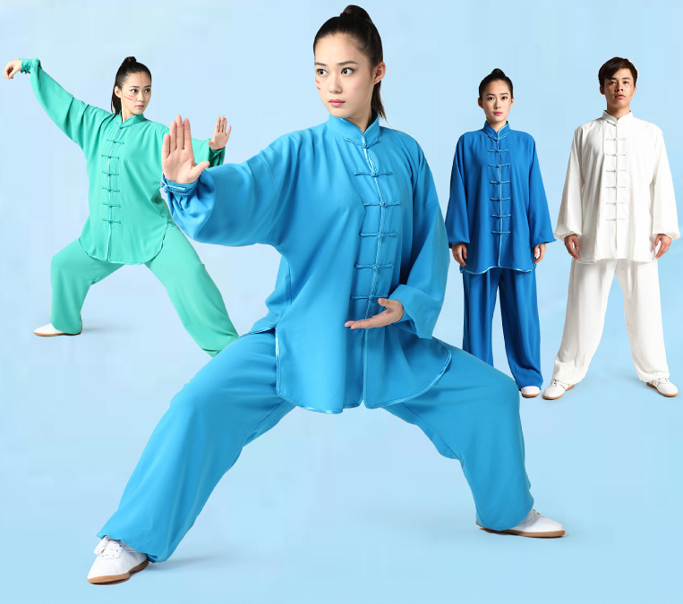unisex 6colors top quality tai chi clothing sets kung fu uniforms Marital arts suit Taijiquan practice performance clothes 2016 chinese tang kung fu wing chun uniform tai chi clothing costume cotton breathable fitted clothes a type of bruce lee suit