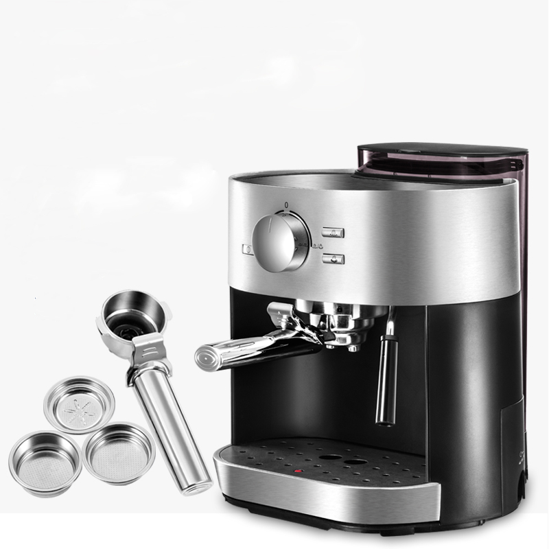 Coffee Machine Semi-automatic Italian Steam Type Milk Foam 15Bar Pump Pressure Transparent Water Tank цена и фото