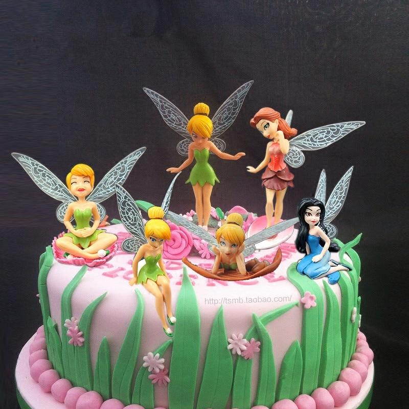 6 pcs/ lot  fairy princess fairy ornaments baking the cake decoration action figure pokemon