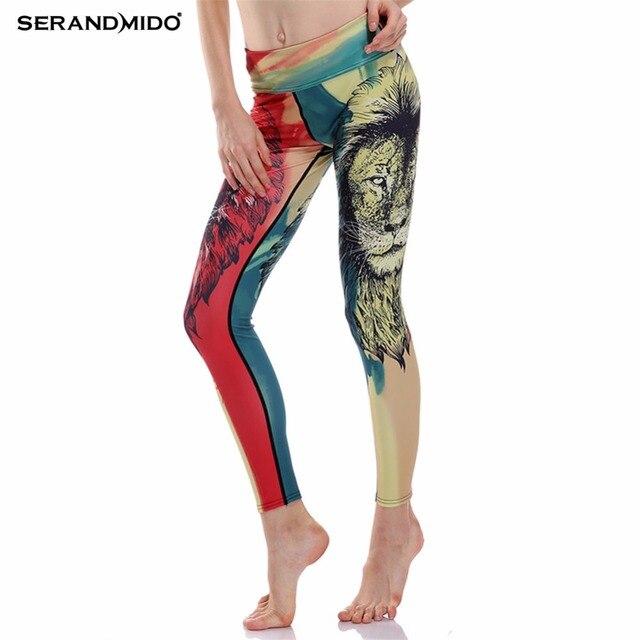3D Animal Impresso Legging das Mulheres 2017 Plus Size Leggings Mulheres de Fitness Fino Hip Empurrar Para cima as Calças Calças SM4L031-1-12
