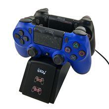 ゲームパッド充電器 PS4 ワイヤレスコントローラダブルシート LED 表示光ゲーム充電器 ps4 ワイヤレス充電器デュアル