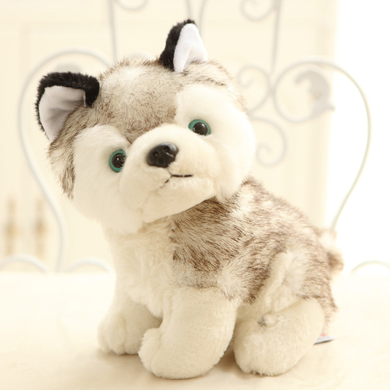 Cani bianco siberian husky peluche animale peluche baby doll