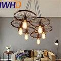 IWHD Лофт стиль креативные Ретро колеса Droplight Эдисон промышленные винтажные подвесные светильники железные светодиодные подвесные лампы осв...